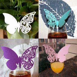 Motyle do dekorowania kieliszków z winem 1
