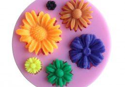 Forma silikonowa - 6 kwiatow - 1