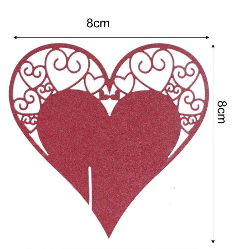 Papierowe serduszka do dekorowania kieliszkow z winem - wymiary