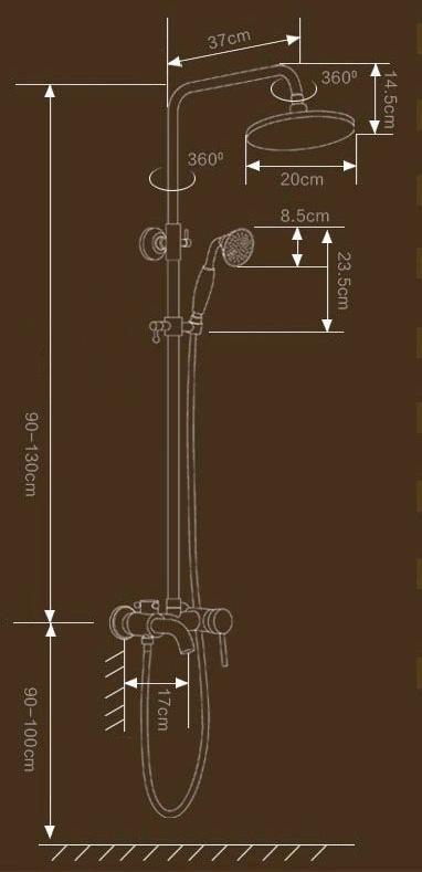 bateria-prysznicowa-rustykalna-deszczownia-wymiary