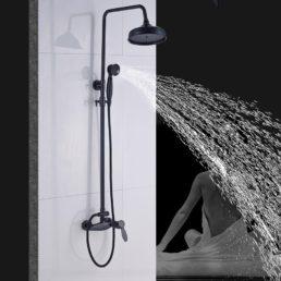 Bateria prysznicowa - Duża Deszczownia i Prosta Wylewka Retro