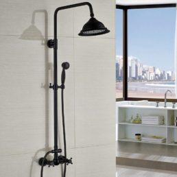 Bateria prysznicowa - Kopułkowa Deszczownia i Kurki bez Wylewki - glowne
